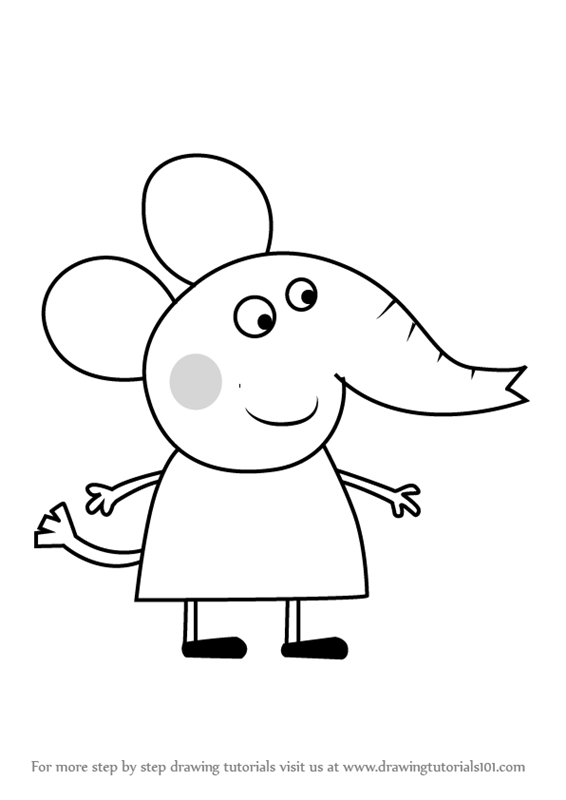 Perfect How To Draw Emily Elephant From Peppa Pig