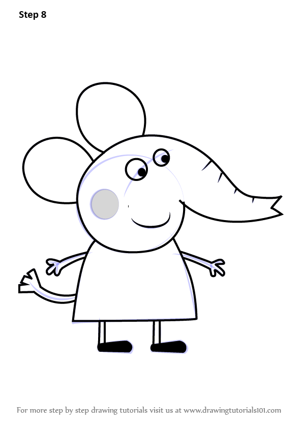 Learn How to Draw Emily Elephant