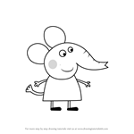 How to Draw Emily Elephant from Peppa Pig