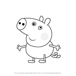 How to Draw George Pig from Peppa Pig