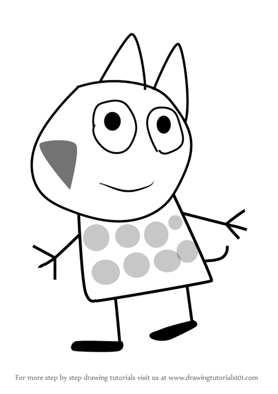 Learn How To Draw Gertrude Cat From Peppa Pig Step By Drawing Tutorials