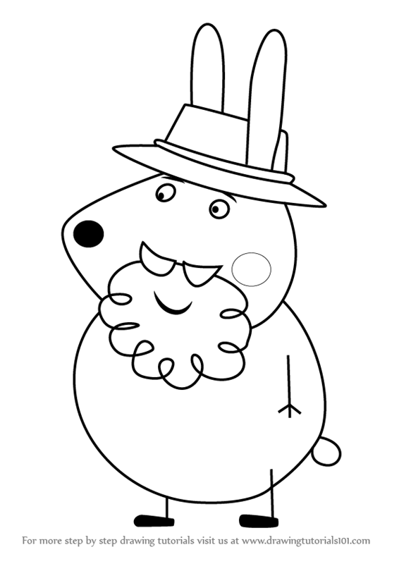 Learn How to Draw Grampy Rabbit from Peppa Pig Peppa Pig