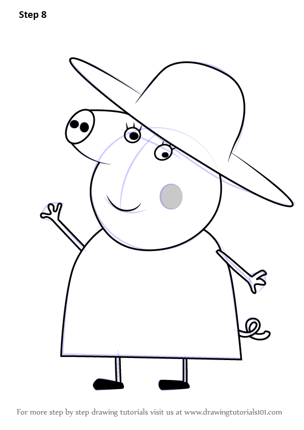 Learn How to Draw Granny Pig from
