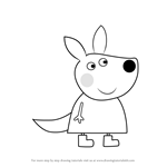 How to Draw Kaylee Kangaroo from Peppa Pig