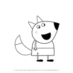 How to Draw Lisa Fox from Peppa Pig
