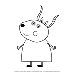 How to Draw Madame Gazelle from Peppa Pig