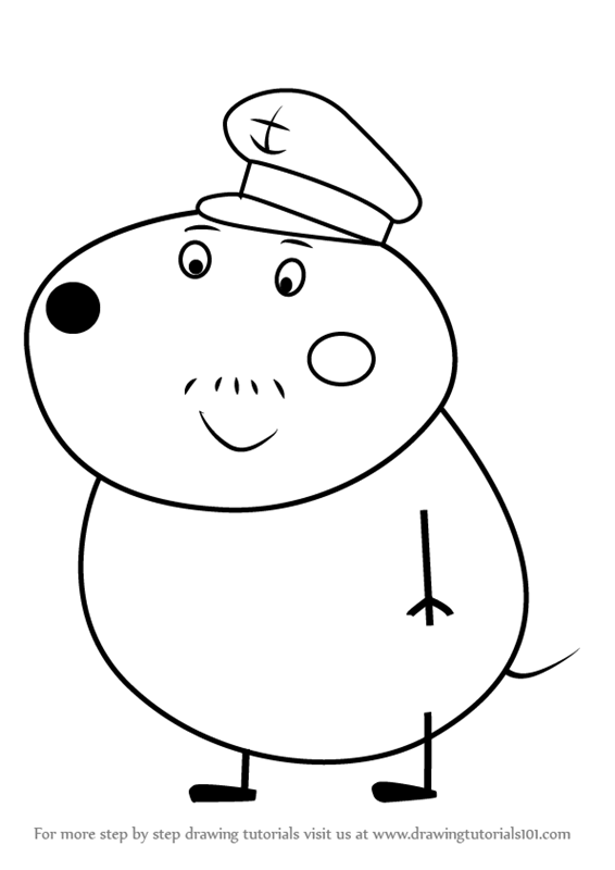 Learn How To Draw Mr Dog From Peppa Pig Step By Drawing Tutorials