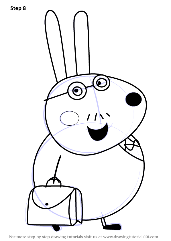Learn How to Draw Mr Rabbit from