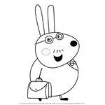 How to Draw Mr. Rabbit from Peppa Pig