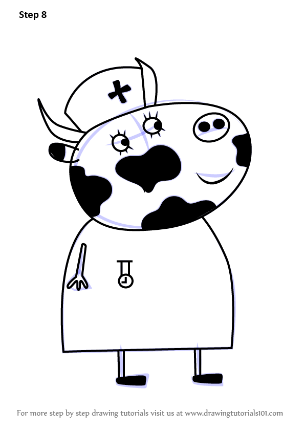 Learn How To Draw Mrs Cow From Peppa Pig Peppa Pig Step