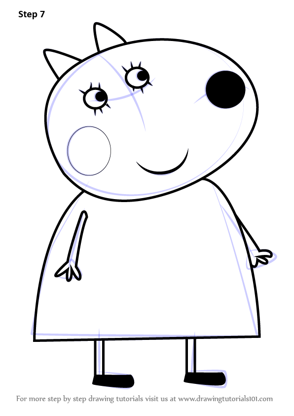 Learn How to Draw Mrs Dog from