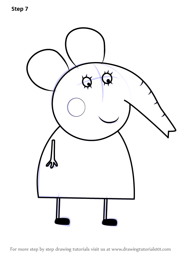 Learn How to Draw Mrs Elephant from Peppa Pig Peppa Pig