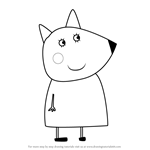 How to Draw Mrs. Fox from Peppa Pig
