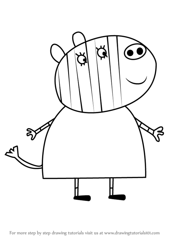 Learn How to Draw Mrs Zebra from