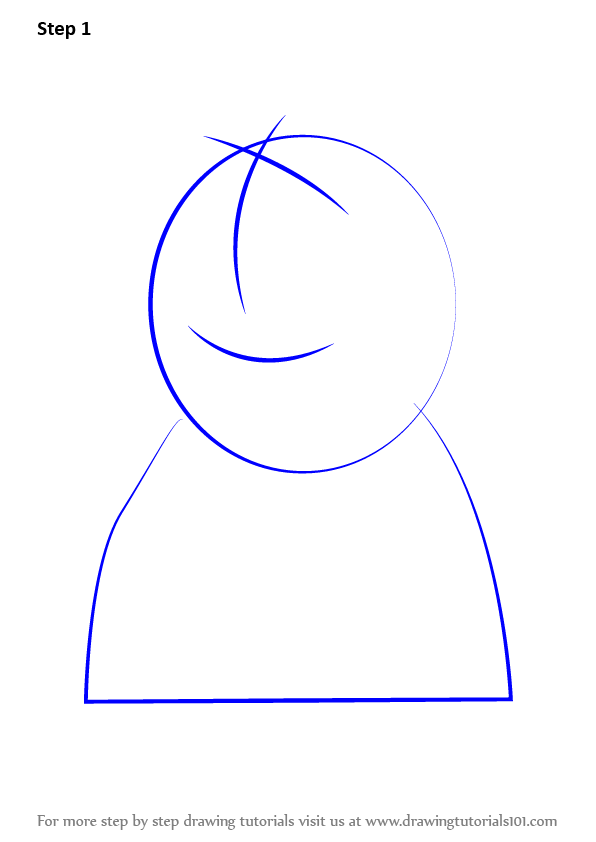 how to draw peppa pig head