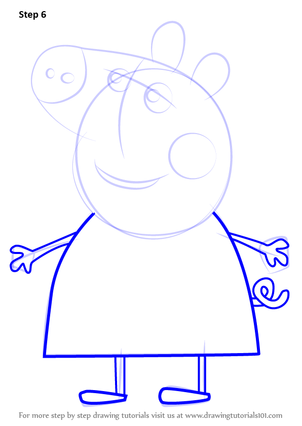 Learn How To Draw Mummy Pig From Peppa Pig Peppa Pig