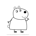 How to Draw Mummy Sheep from Peppa Pig