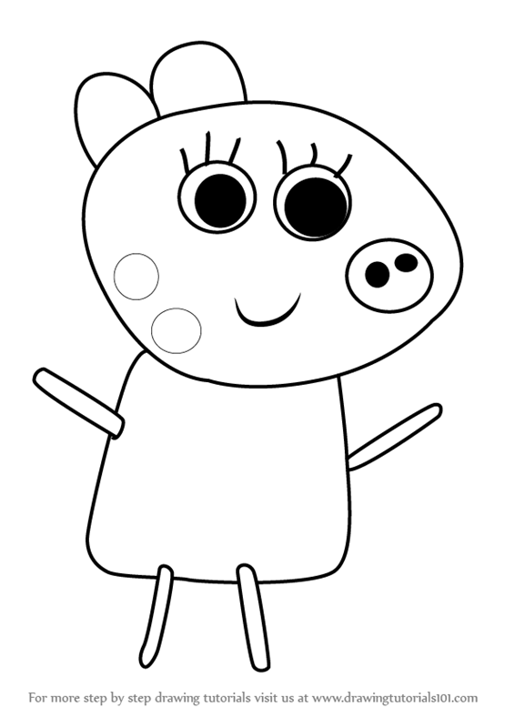Learn How To Draw Patty Pony From Peppa Pig Step By Drawing Tutorials