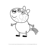 How to Draw Pedro Pony from Peppa Pig