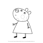 How to Draw Penny Pony from Peppa Pig
