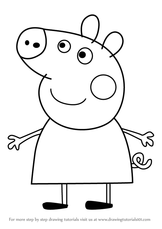 Learn How to Draw Peppa Pig from Peppa Pig Peppa Pig Step by
