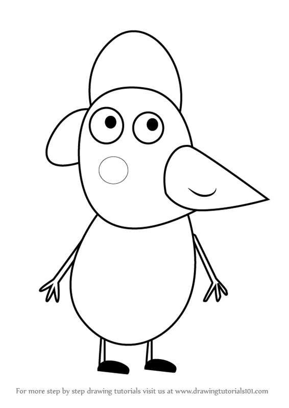 Learn How To Draw Po Penguin From Peppa Pig Step By Drawing Tutorials