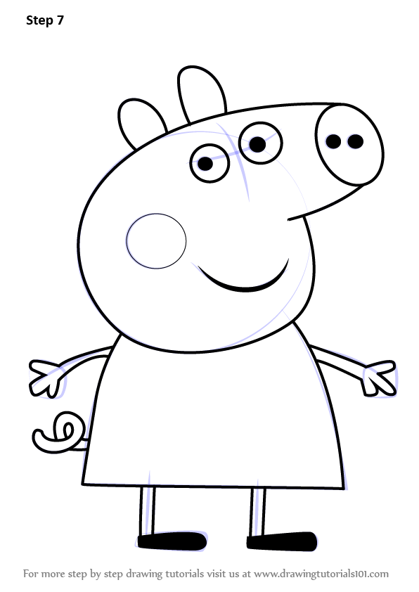 Learn How to Draw Polly Pig from