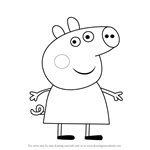 how to draw george pig