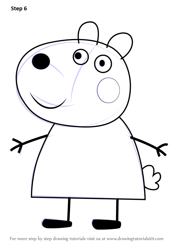 Learn how to draw suzy sheep from peppa pig peppa pig step by step signup for free weekly drawing tutorials maxwellsz