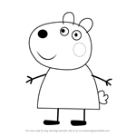 How to Draw Suzy Sheep from Peppa Pig