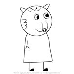 How to Draw Taylor Tapir from Peppa Pig