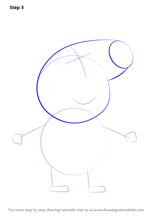 how to draw a cartoon pig step by step