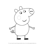 How to Draw Tobias Pig from Peppa Pig