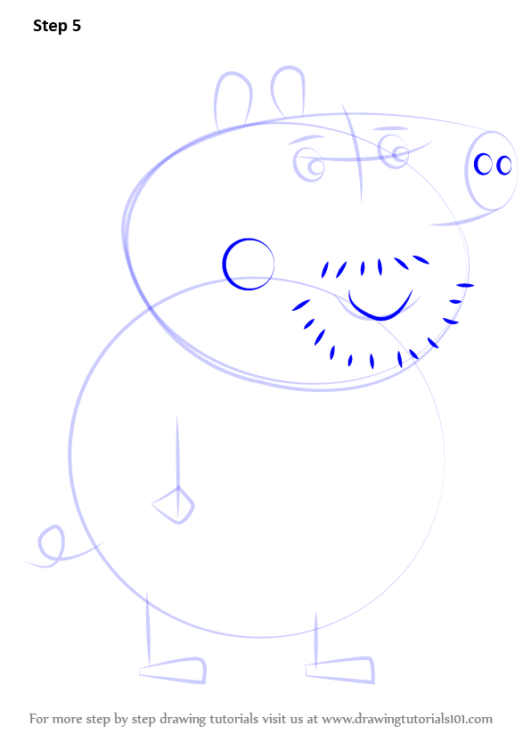 how to draw peppa pig george