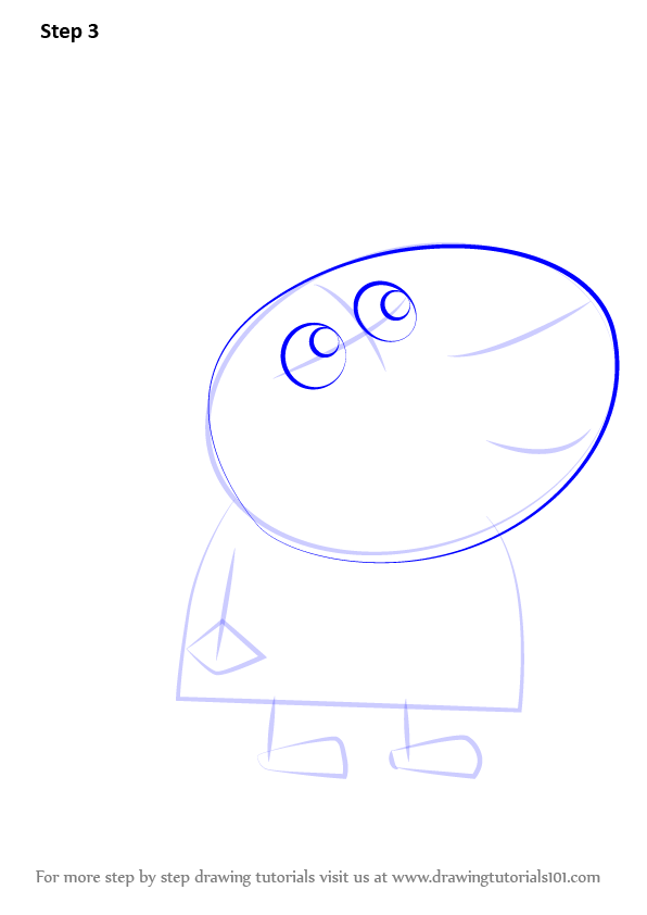 learn how to draw zaza from peppa pig peppa pig step by
