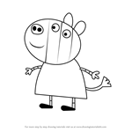 How to Draw Zoe Zebra from Peppa Pig