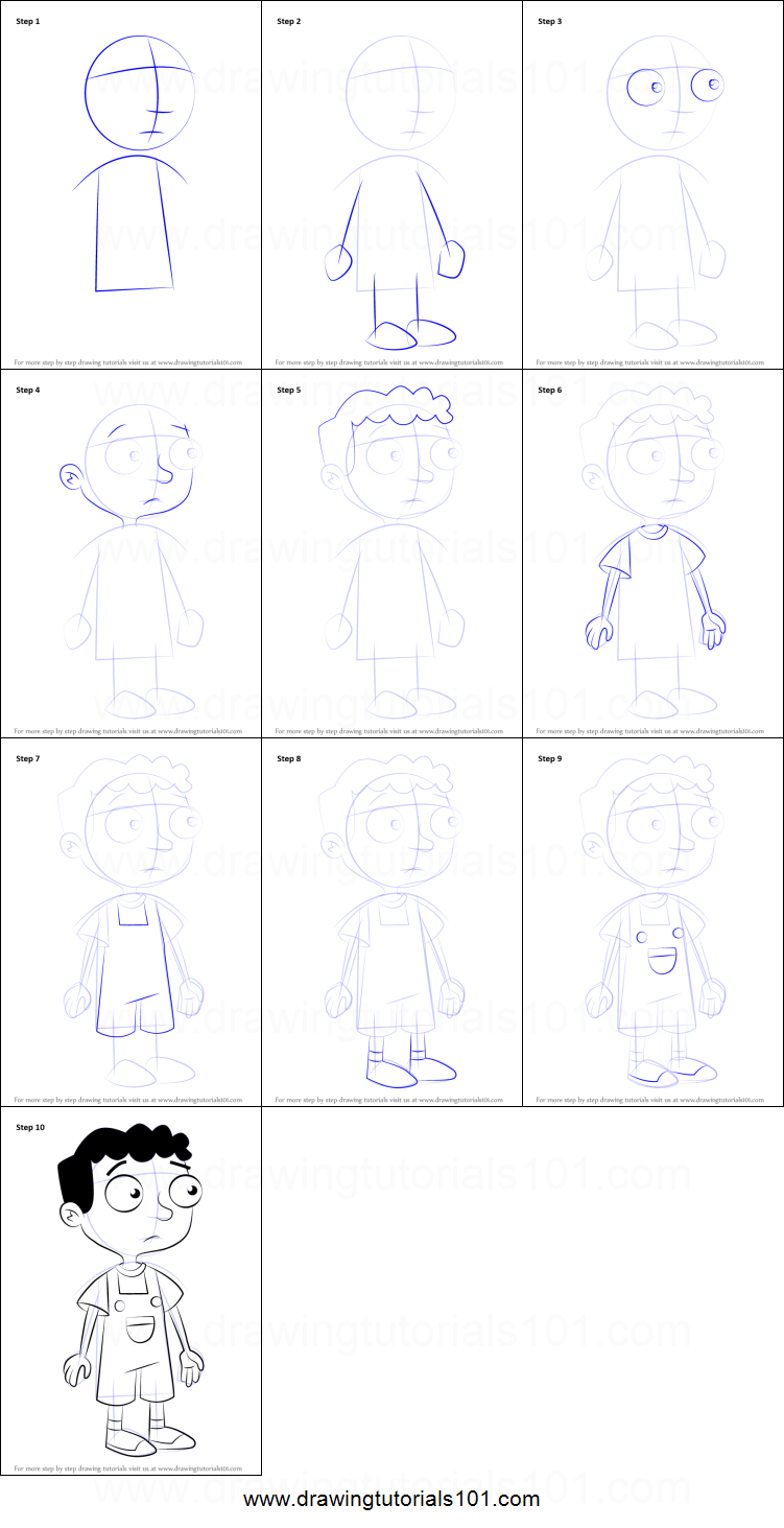 How to Draw Baljeet Tjinder from Phineas and Ferb