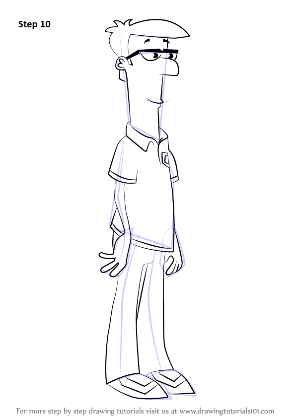 Learn How To Draw Lawrence Fletcher From Phineas And Ferb
