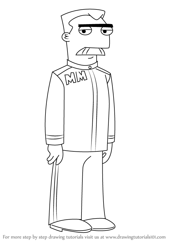 learn how to draw major monogram from phineas and ferb