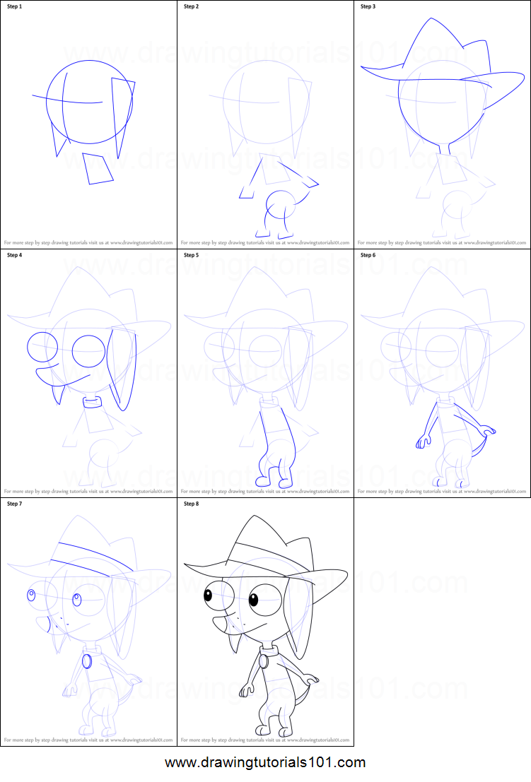 How to Draw Pinky from Phineas and Ferb printable step by