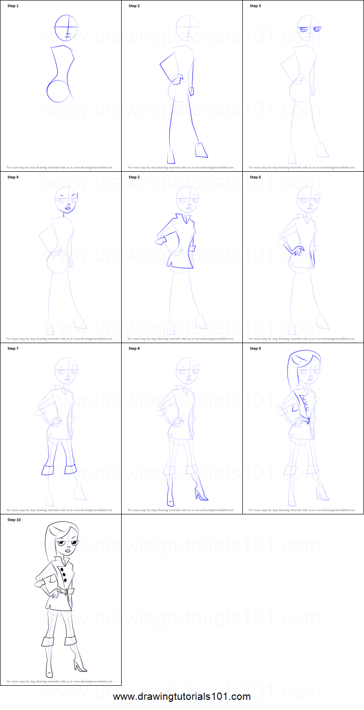 How to Draw Vanessa Doofenshmirtz from Phineas and Ferb