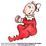 How to Draw Swee'Pea from Popeye the Sailor