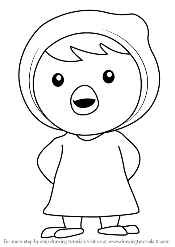 Learn how to draw petty from pororo the little penguin for Pororo coloring pages