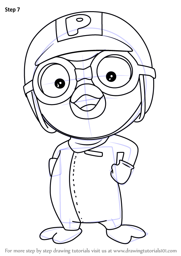 Learn How To Draw Pororo From Pororo The Little Penguin