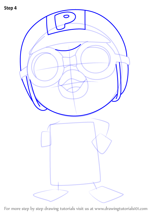 Step By Step How To Draw Rody From Pororo The Little