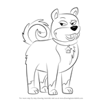 How to Draw Agent Ping from Pound Puppies