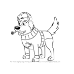 How to Draw Agent Todd from Pound Puppies