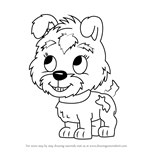 How to Draw Buttercup from Pound Puppies