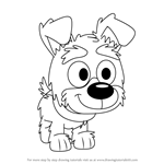 How to Draw Farfel from Pound Puppies