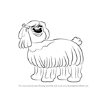 How to Draw Giblet from Pound Puppies